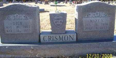 CRISMON, DICK - Randolph County, Arkansas | DICK CRISMON - Arkansas Gravestone Photos