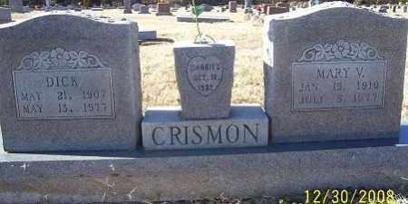 CRISMON, MARY V. - Randolph County, Arkansas | MARY V. CRISMON - Arkansas Gravestone Photos