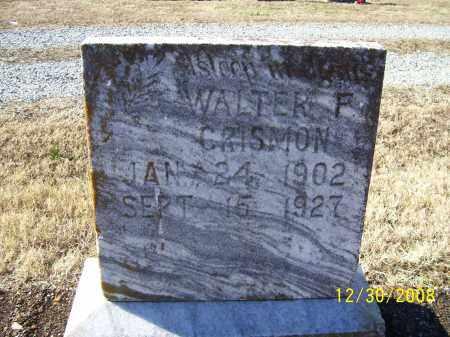 CRISMON, WALTER F. - Randolph County, Arkansas | WALTER F. CRISMON - Arkansas Gravestone Photos