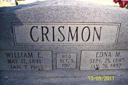 CRISMON, WILLIAM E - Randolph County, Arkansas | WILLIAM E CRISMON - Arkansas Gravestone Photos