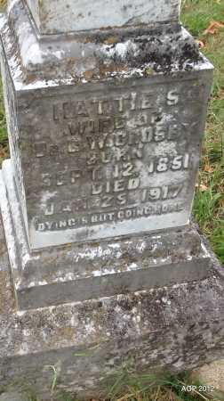 KIBLER CROSBY, HATTIE S (CLOSEUP) - Randolph County, Arkansas | HATTIE S (CLOSEUP) KIBLER CROSBY - Arkansas Gravestone Photos