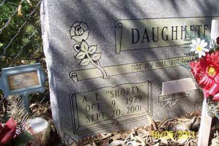 DAUGHHETEE, A E - Randolph County, Arkansas | A E DAUGHHETEE - Arkansas Gravestone Photos