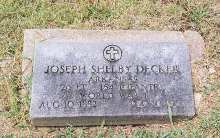 DECKER (VETERAN WWI), JOSEPH SHELBY - Randolph County, Arkansas | JOSEPH SHELBY DECKER (VETERAN WWI) - Arkansas Gravestone Photos