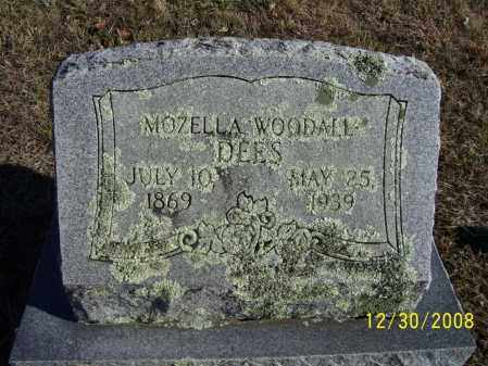 WOODALL DEES, MOZELLA - Randolph County, Arkansas | MOZELLA WOODALL DEES - Arkansas Gravestone Photos