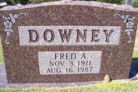 DOWNEY, FRED A - Randolph County, Arkansas | FRED A DOWNEY - Arkansas Gravestone Photos