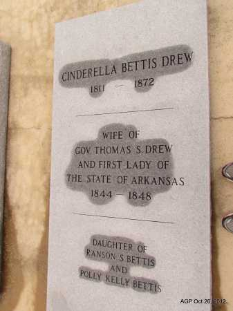 BETTIS DREW, CINDERELLA - Randolph County, Arkansas | CINDERELLA BETTIS DREW - Arkansas Gravestone Photos