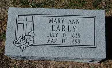 EARLY, MARY ANN - Randolph County, Arkansas | MARY ANN EARLY - Arkansas Gravestone Photos
