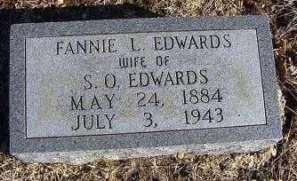 EDWARDS, FANNIE L. - Randolph County, Arkansas | FANNIE L. EDWARDS - Arkansas Gravestone Photos
