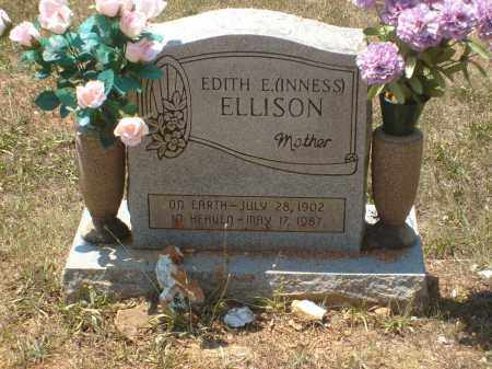 INNESS ELLISON, EDITH E - Randolph County, Arkansas | EDITH E INNESS ELLISON - Arkansas Gravestone Photos