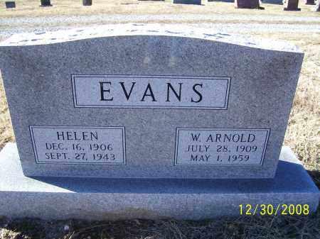 EVANS, W. ARNOLD - Randolph County, Arkansas | W. ARNOLD EVANS - Arkansas Gravestone Photos