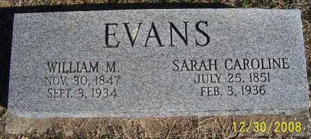 EVANS, WILLIAM M. - Randolph County, Arkansas | WILLIAM M. EVANS - Arkansas Gravestone Photos