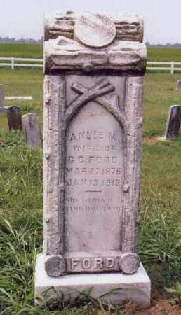 FORD, ANNIE - Randolph County, Arkansas | ANNIE FORD - Arkansas Gravestone Photos