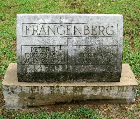 FRANGENBERG, PETER J. - Randolph County, Arkansas | PETER J. FRANGENBERG - Arkansas Gravestone Photos