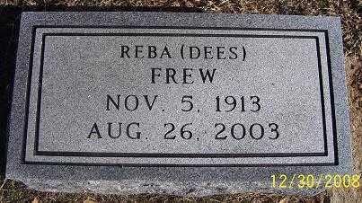 DEES FREW, REBA - Randolph County, Arkansas | REBA DEES FREW - Arkansas Gravestone Photos
