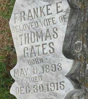 GATES, FRANKE E (CLOSE UP) - Randolph County, Arkansas | FRANKE E (CLOSE UP) GATES - Arkansas Gravestone Photos