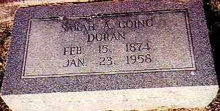 "GOING - DORAN, SARAH ANN ""SALLIE"" - Randolph County, Arkansas 
