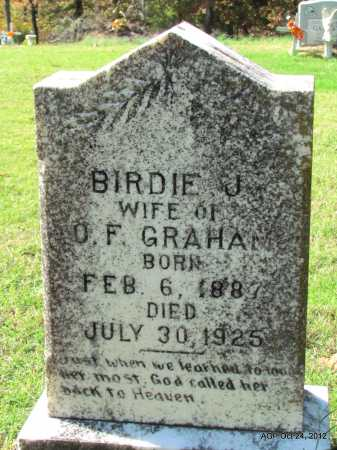 GRAHAM, BIRDIE J - Randolph County, Arkansas | BIRDIE J GRAHAM - Arkansas Gravestone Photos