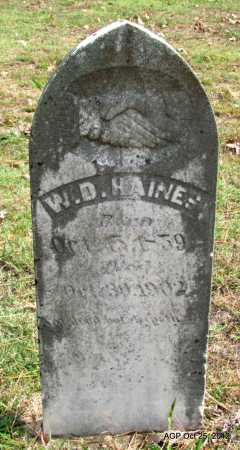 HAINES, W D - Randolph County, Arkansas | W D HAINES - Arkansas Gravestone Photos