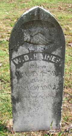 HAINES, W D - Randolph County, Arkansas | W D HAINES - Arkansas Gravestone Photos
