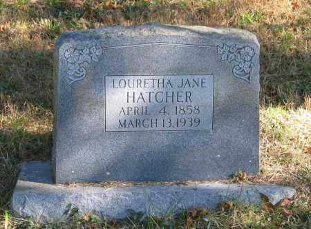 HATCHER, LOURETHA JANE - Randolph County, Arkansas | LOURETHA JANE HATCHER - Arkansas Gravestone Photos