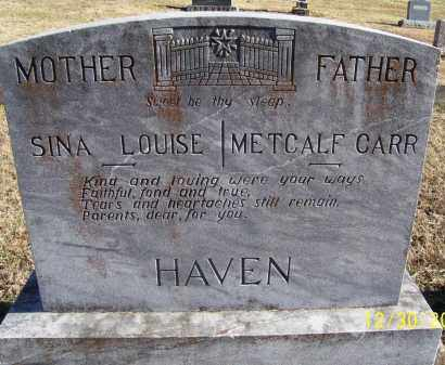 CHAUDET HAVEN, SINA LOUISE - Randolph County, Arkansas | SINA LOUISE CHAUDET HAVEN - Arkansas Gravestone Photos