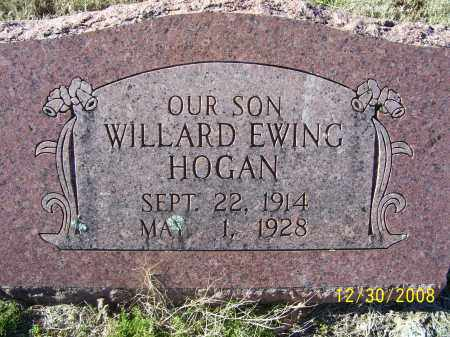 HOGAN, WILLARD EWING - Randolph County, Arkansas | WILLARD EWING HOGAN - Arkansas Gravestone Photos