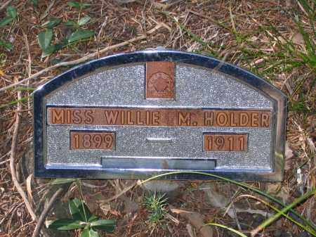 HOLDER, WILLIE M. - Randolph County, Arkansas | WILLIE M. HOLDER - Arkansas Gravestone Photos
