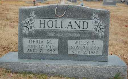 HOLLAND, WILEY F - Randolph County, Arkansas | WILEY F HOLLAND - Arkansas Gravestone Photos