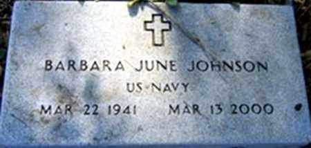 JOHNSON (VETERAN), BARBARA JUNE - Randolph County, Arkansas | BARBARA JUNE JOHNSON (VETERAN) - Arkansas Gravestone Photos