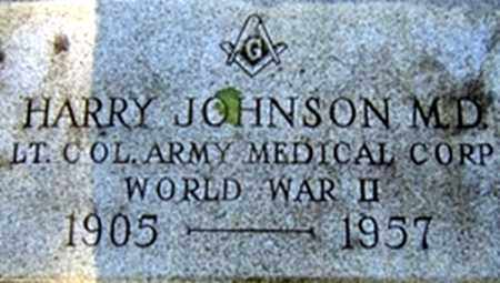 JOHNSON, M D (VETERAN WWII), HARRY - Randolph County, Arkansas | HARRY JOHNSON, M D (VETERAN WWII) - Arkansas Gravestone Photos