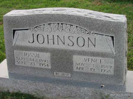 JOHNSON, JOSEPHINE MALISSA ''JOSSIE'' - Randolph County, Arkansas | JOSEPHINE MALISSA ''JOSSIE'' JOHNSON - Arkansas Gravestone Photos