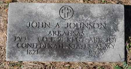 JOHNSON (VETERAN CSA), JOHN A - Randolph County, Arkansas | JOHN A JOHNSON (VETERAN CSA) - Arkansas Gravestone Photos