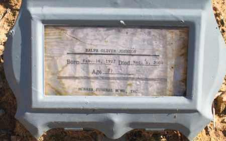 JOHNSON, RALPH OLIVER - Randolph County, Arkansas | RALPH OLIVER JOHNSON - Arkansas Gravestone Photos