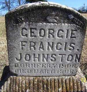 JOHNSTON, GEORGIE FRANCIS - Randolph County, Arkansas | GEORGIE FRANCIS JOHNSTON - Arkansas Gravestone Photos