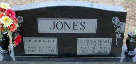 SPENCER JONES, VIRGINIA PEARL - Randolph County, Arkansas | VIRGINIA PEARL SPENCER JONES - Arkansas Gravestone Photos