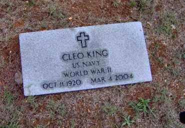 KING (VETERAN WWII), CLEO - Randolph County, Arkansas | CLEO KING (VETERAN WWII) - Arkansas Gravestone Photos