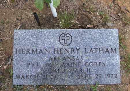 LATHAM (VETERAN WWII), HERMAN HENRY - Randolph County, Arkansas | HERMAN HENRY LATHAM (VETERAN WWII) - Arkansas Gravestone Photos