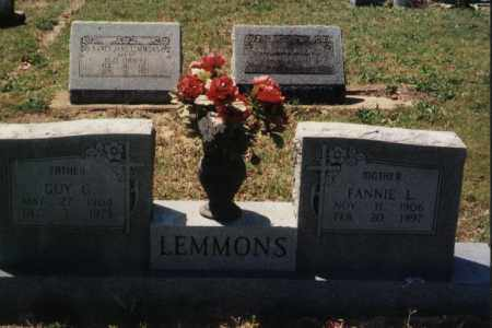 LEMMONS, FANNIE 'FANNY' L - Randolph County, Arkansas | FANNIE 'FANNY' L LEMMONS - Arkansas Gravestone Photos