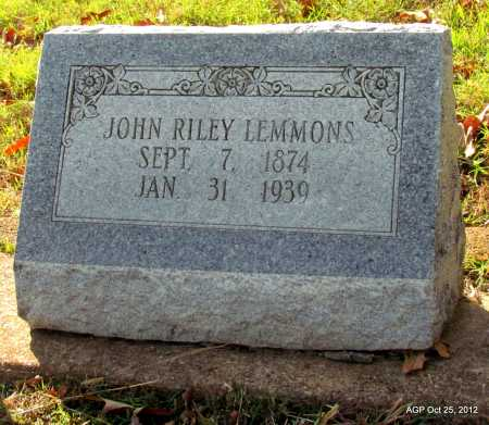 LEMMONS, JOHN RILEY - Randolph County, Arkansas | JOHN RILEY LEMMONS - Arkansas Gravestone Photos