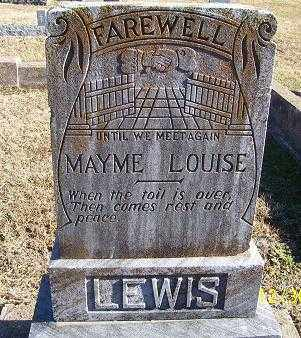 LEWIS, MAYME LOUISE - Randolph County, Arkansas | MAYME LOUISE LEWIS - Arkansas Gravestone Photos