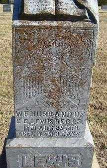 LEWIS, W. F. - Randolph County, Arkansas | W. F. LEWIS - Arkansas Gravestone Photos
