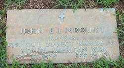 LINDQUIST (VETERAN SAW), JOHN E - Randolph County, Arkansas | JOHN E LINDQUIST (VETERAN SAW) - Arkansas Gravestone Photos