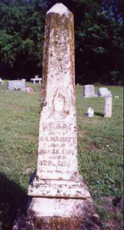 FERRILL MARIOTT, MATILDA - Randolph County, Arkansas | MATILDA FERRILL MARIOTT - Arkansas Gravestone Photos
