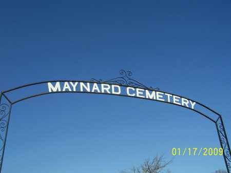 *MAYNARD CEMETERY, ENTRANCE - Randolph County, Arkansas | ENTRANCE *MAYNARD CEMETERY - Arkansas Gravestone Photos