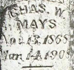 MAYS, CHARLES W. - Randolph County, Arkansas | CHARLES W. MAYS - Arkansas Gravestone Photos