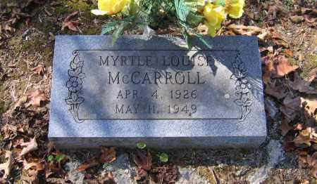 MCCARROLL, MYRTLE LOUISE - Randolph County, Arkansas | MYRTLE LOUISE MCCARROLL - Arkansas Gravestone Photos