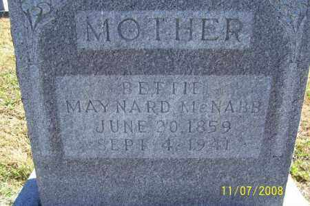MAYNARD MCNABB, BETTIE - Randolph County, Arkansas | BETTIE MAYNARD MCNABB - Arkansas Gravestone Photos