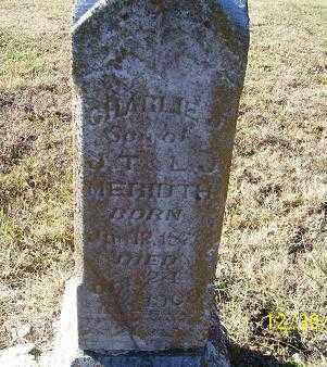 MERIDITH, CHARLIE - Randolph County, Arkansas | CHARLIE MERIDITH - Arkansas Gravestone Photos