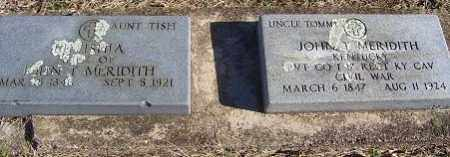 MERIDITH (VETERAN UNION), JOHN T - Randolph County, Arkansas | JOHN T MERIDITH (VETERAN UNION) - Arkansas Gravestone Photos