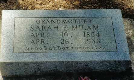 MILAM, SARAH E - Randolph County, Arkansas | SARAH E MILAM - Arkansas Gravestone Photos